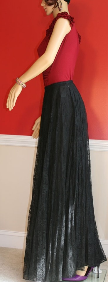 Kay Unger Black Lace Ballgown Skirt Size 4 (S, 27) - Tradesy
