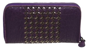 Bottega Veneta Bottega Veneta Purple Leather Wallet
