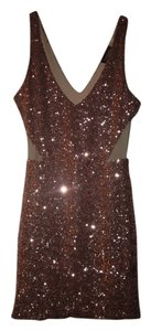 bebe Sequin Pink Dress