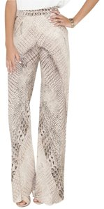 Willow & Clay Wide Leg Silk Flowy Snakeskin Pants