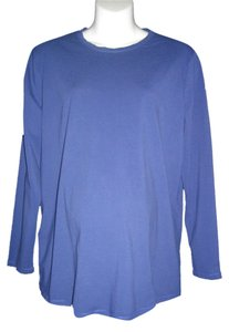 Liz Lange Maternity Long Sleeves T Shirt Blue