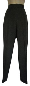 Lauren Ralph Lauren Flat Front Career Textured Straight Pants Gray