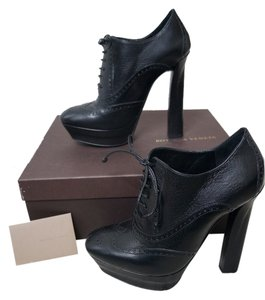 Bottega Veneta Leather Platform Black Boots