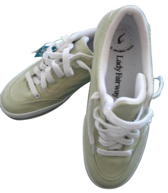 Beige/Tint Of Green Spike-less Sneakers Size US 7 Regular (M, B) Beige/Tint Of Green Spike-less Sneakers Size US 7 Regular (M, B) Image 1