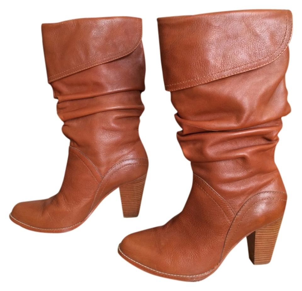Matiko Chestnut Brown Heels Winter Chunky Heels High Heels Winter Heels Fall Boots/Booties 6e5ed5