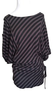 Kaidal French Design Top Black and grey striped