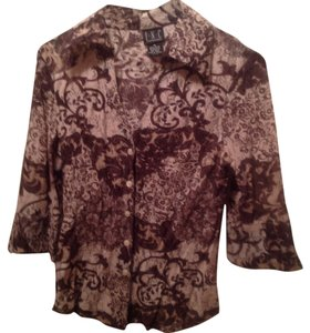 INC International Concepts Top Beige/Brown