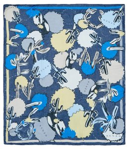 Kenzo Kenzo scarf blue , 85% Modal, 15% Linen #37169 NewCollection