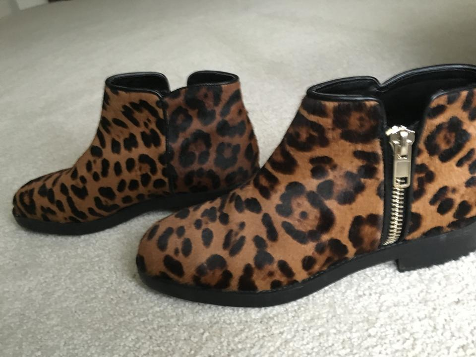 d82173d6c7fe Zara Leopard Print Calf Hair Leather Boots/Booties Size US 8.5 - Tradesy