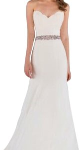 Martina Liana Ivory Silk Moroccan 562 Modern Wedding Dress Size 8 (M)