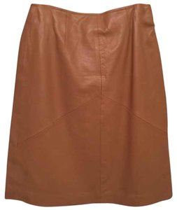 LEATHER LIMITED 100% Leather Pencil Skirt Skirt Tan