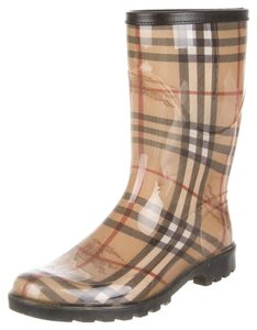 Burberry Brown Beige Multicolor Brown, Black Boots