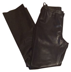 Banana Republic Straight Pants Black leather
