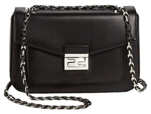 Fendi Be Baguette Leather Cross Body Bag