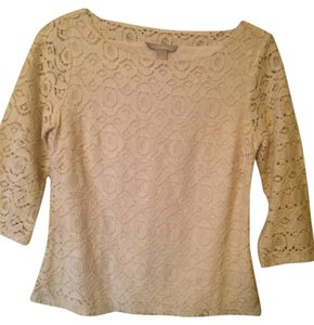 Banana Republic Lace Top Ivory
