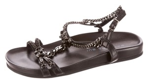 Barbara Bui Studded Leather Back Sandals