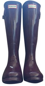 Hunter Boot Rubber Water-repellant Bright Plum Boots