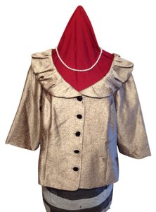 Dress Barn Formal Metallic Wedding Top gold