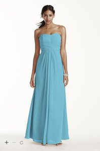 David's Bridal Pool Blue F15555 Dress