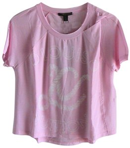 Louis Vuitton 100% Cotton Made In Italy T Shirt Pink