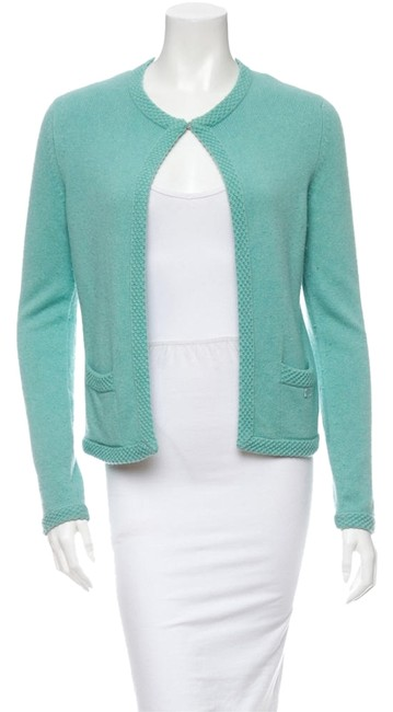 Preload https://img-static.tradesy.com/item/9822826/chanel-mint-green-cashmere-sweater-cardigan-size-2-xs-0-1-650-650.jpg