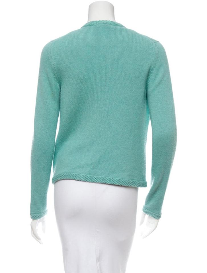 Chanel Mint Green Cashmere Sweater Cardigan Size 2 (XS) - Tradesy