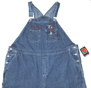 Mickey Unlimited Mouse Bib Overalls Relaxed Fit Jeans-Medium Wash