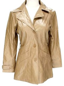 BB Dakota Faux Leather Tan Leather Jacket