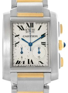 Cartier Cartier Tank Francaise Mens Two Tone Chrongraph Watch W51004Q4