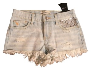 Abercrombie Kids Denim Shorts-Light Wash