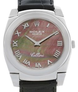 Rolex Rolex Cellini Cestello 18K White Gold MOP Dial Watch 5330 Box Papers