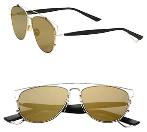 Dior Technologic 57MM Pantos Sunglasses Gold Black/Gold Mirror