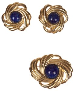 Lanvin Lanvin Retro Design Inspired Earring and Pin Set