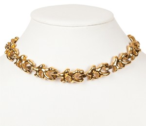 Ciner Goldtone Branch Coral Necklace