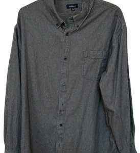 Croft & Barrow Button Down Shirt Gray