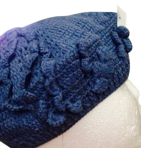 Dots Blue Knit Hat