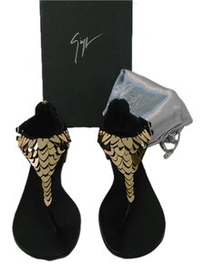Giuseppe Zanotti Sophisticated Dramatic Made In Italy Black Sandals