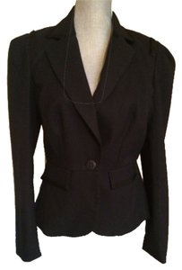 Trina Turk Nwt Navy Blue with Black Trim Blazer