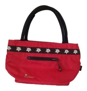 Sherpani Satchel in Red with flowers