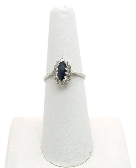 Preload https://img-static.tradesy.com/item/9826846/blue-050ct-sapphire-with-diamonds-14k-solid-white-gold-size-65-ring-0-1-540-540.jpg