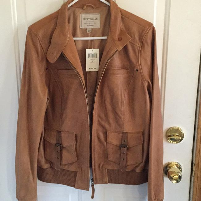 Lucky Brand tan/luggage Leather Jacket