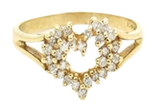 Other 0.29CT Heart Shaped 2.8g 14k Solid Yellow Gold Ring