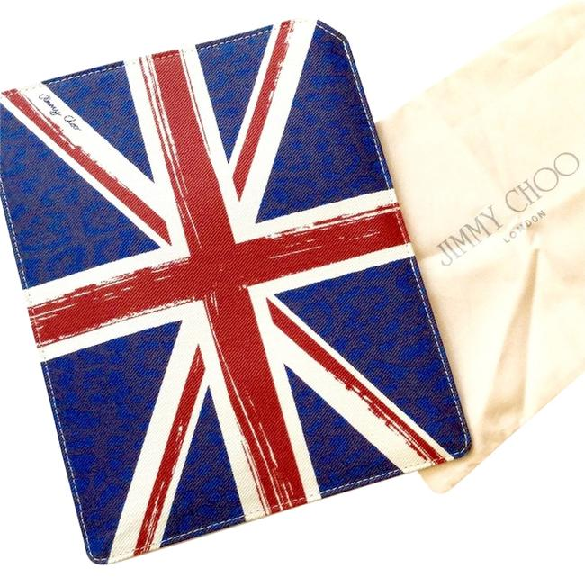 Jimmy Choo Blue Red White Union Jack Collection Ipad/Tablet Case Tech Accessory Jimmy Choo Blue Red White Union Jack Collection Ipad/Tablet Case Tech Accessory Image 1