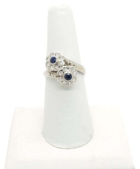 Preload https://img-static.tradesy.com/item/9828184/014ct-blue-sapphire-and-032ct-diamonds-18k-solid-white-gold-ring-0-3-540-540.jpg