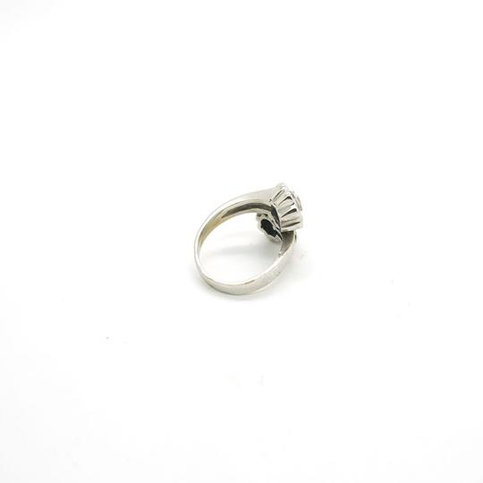 Other 0.14CT Blue Sapphire & 0.32CT Diamonds 18k Solid White Gold Ring
