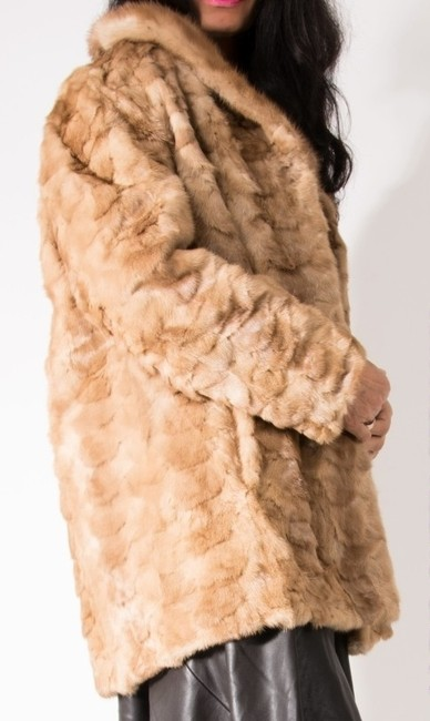 Other Mink Mink Pastel Mink Real Fox Fur Coat