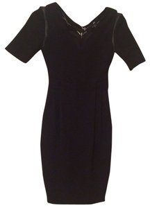 H&M Lbd Little Work Workwear Sheath Office Cocktails V-neck V Neck Bodycon Body Con Fitted Crepe Dress