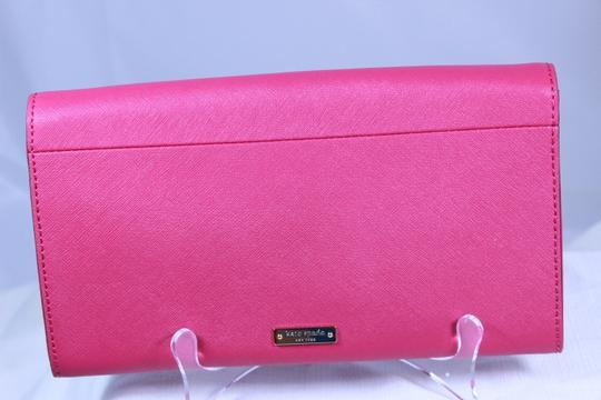Kate Spade Gold Chain Leather Bow Leather Shoulder Pink Clutch