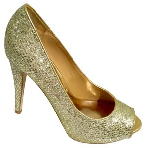 Badgley Mischka Gold Platforms