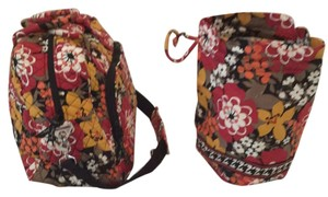 Vera Bradley Brown/orange/yellow Flower Pattern Travel Bag